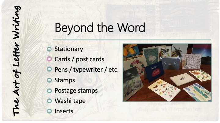 Beyond the word: Cards / post cards. Image of various cards.