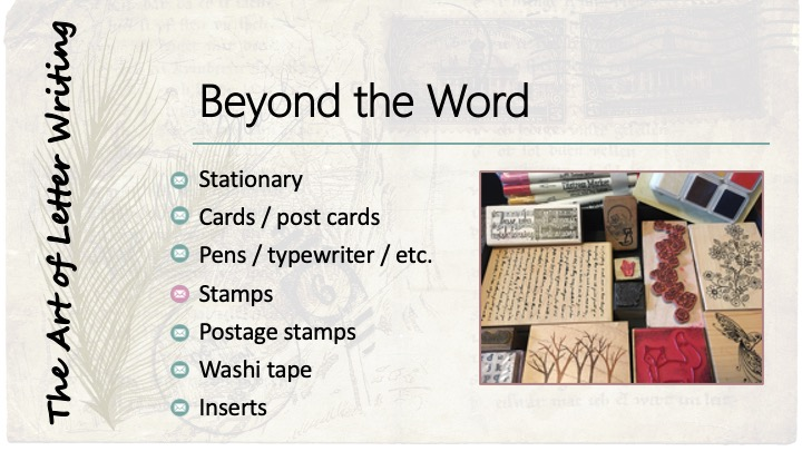 Beyond the Word: Stamps - image of rubber stamps, in pads and markers.