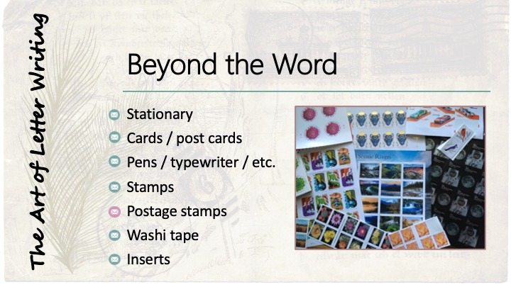Beyond the Word: Postage Stamps - image of a variety of postage stamp designs.